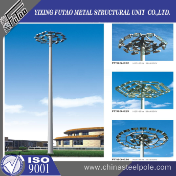 OEM high mast poles for airport