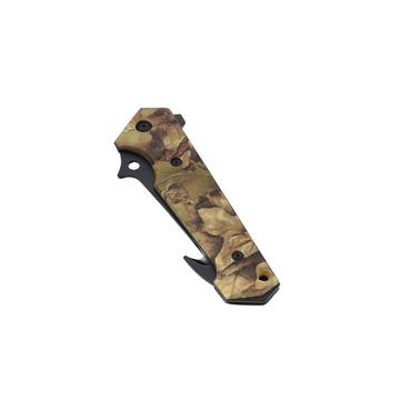Camo coated outdoor survival tools folding knife