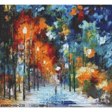 Colorful Glass Mosaic Art Poetry Oil Painting Mural