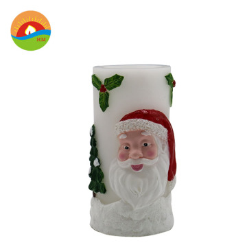 Christmas party decorative LED santa claus shaped candle