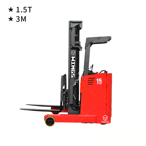 1.5 tons Electric Reach Truck 3-meter Stand-on