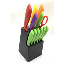 13pcs kitchen knife block set