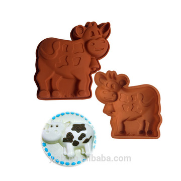 silicone cow shape Muffin Cups DIY Mold