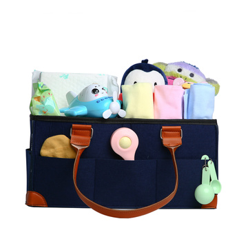 Best selling mother care leather baby diaper bag