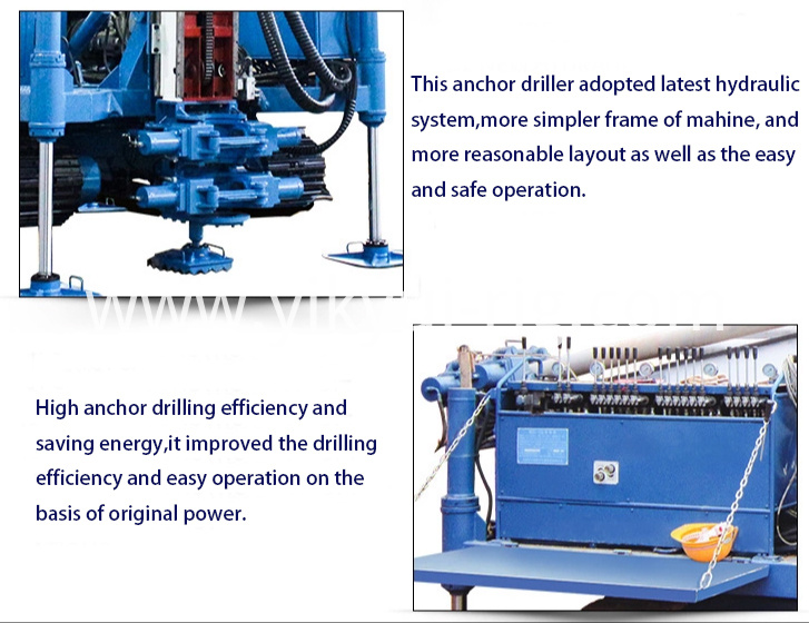 Multifunctional slope anchor hydraulic drilling rig machine product details 2