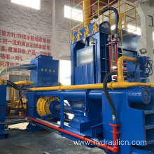 Horizontal Scrap Shred Steel Briquette Making Machine