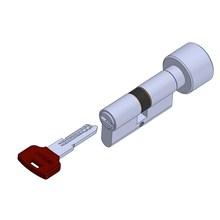 Knob door lock cylinder hollow coded key
