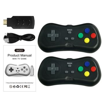 2 Players 1080P Wireless TV Video Game Console Build-in 638 Classic Games 8 Bit Mini Handheld Game Machine Dual Gamepad