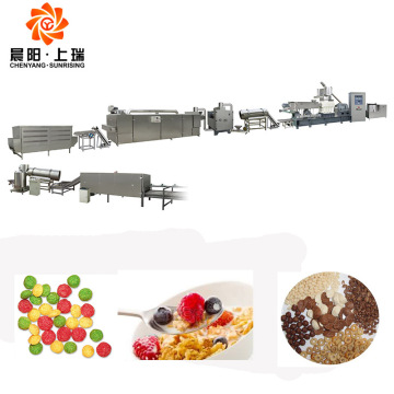 Corn flakes making extruder breakfast cereal machine