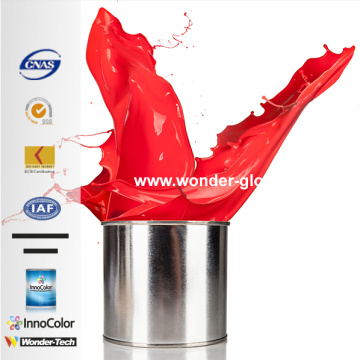 Good Car Refinish Paint Vivid Red 1K BaseCoat