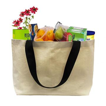 Custom Reusable Eco Friendly Cotton Canvas Shopping Bag