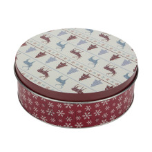 Tin Round Shape Cake Cookie Can