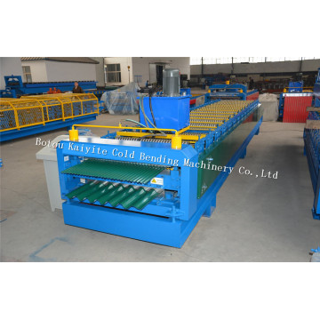 Double Layer Corrugated Profile Steel Roofing Sheet Machine