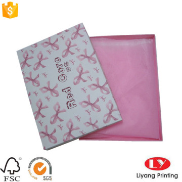 Underwear packaging one piece paper box with lid