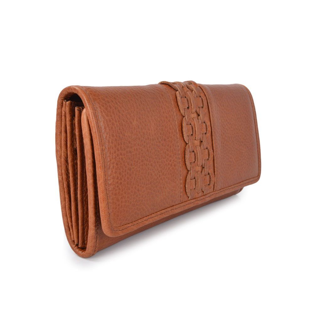 Long Style Vintage Oil Wax Leisure Leather Wallets