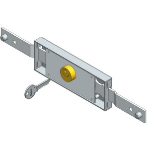 Shifted bolt central rolling shutter lock