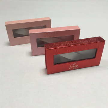 Clear Window Eyelash Extension Paper Box Packaging