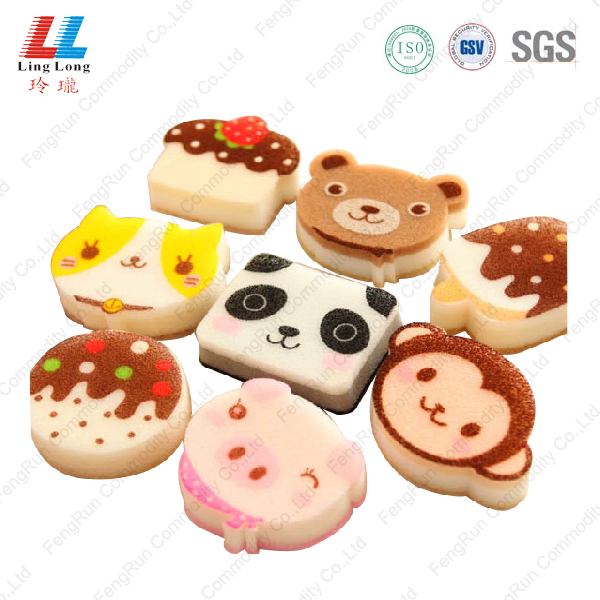 Animal comely foam bath sponge