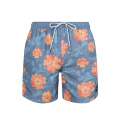 Sport Style Printed Swimming Trunks Floral Beach Shorts