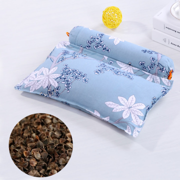 Health Care Pillow Buckwheat Husk Neck Support Cervical Protect Stripe Printing Pillows for Gift Travel Bedding Sleeping Pillow