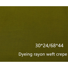 Dyeing Rayon Weft Crepe 30x24/68x44 140gsm