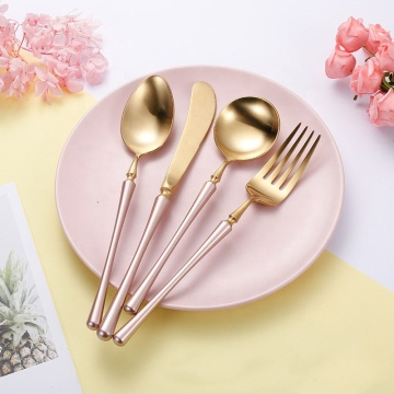 Wholesale restaurant gold flatware stainless german cutlery