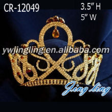 Gold Plated King And Queen Crowns