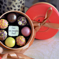 Custom Chocolate Boxes Packing Round Truffle Box Packaging