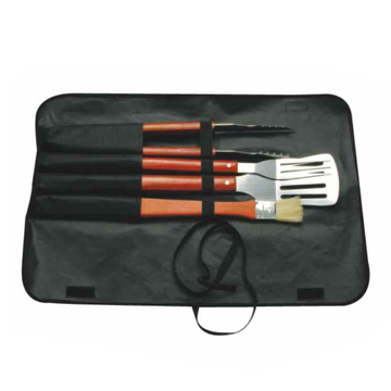 4pcs BBQ set long handle