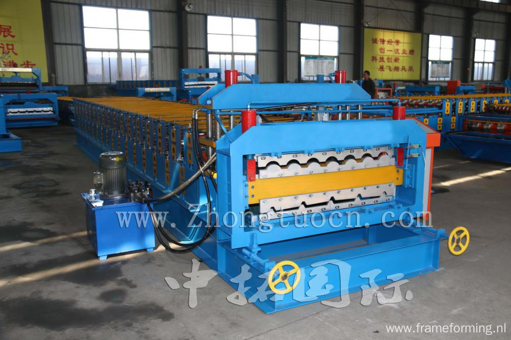 Double Layer Roll Forming Machine For Tiles