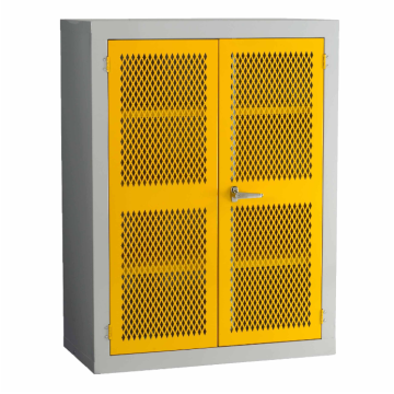 Yellow Mesh Door Steel Storage Cupboard