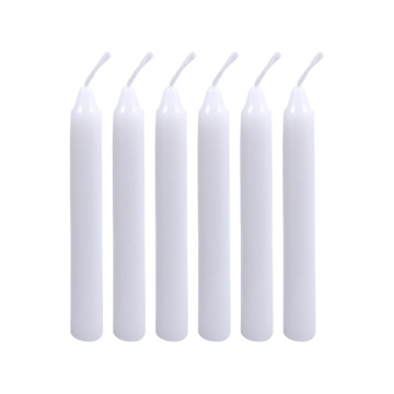 Small size 4 inch white color religious candles