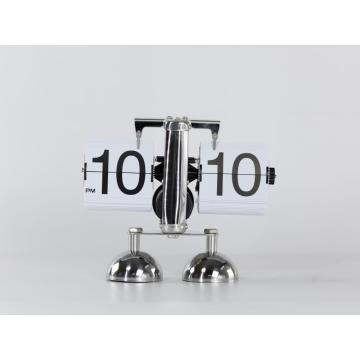 Cute Robot-Shape Flip Clock With 2 Pedestals