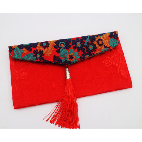 satin pouch embroidered bag