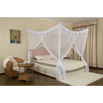 tassel canopy square mosquito net
