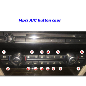 Air Conditioning Switch Button Cover Replacement for BMW