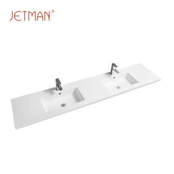 modern vanity face ceramic hand bathroom double wash basin