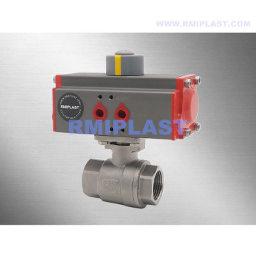 Stainless Steel Pneumatic Ball Valve Thread End