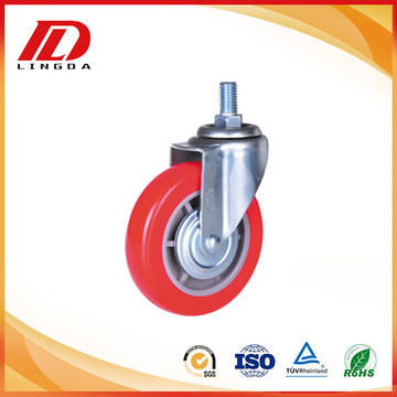 5 inch thread stem caster pu wheels