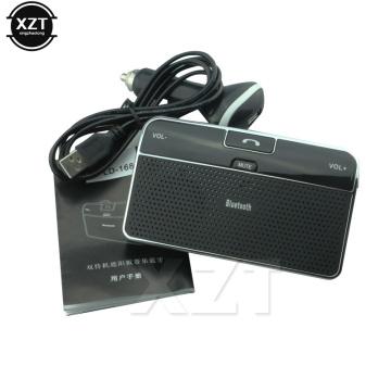 Universal Bluetooth Car 4.0 EDR In-Car Speakerphone Sun Visor Handsfree Car Kit Music Receiver Car Bluetooth Charger