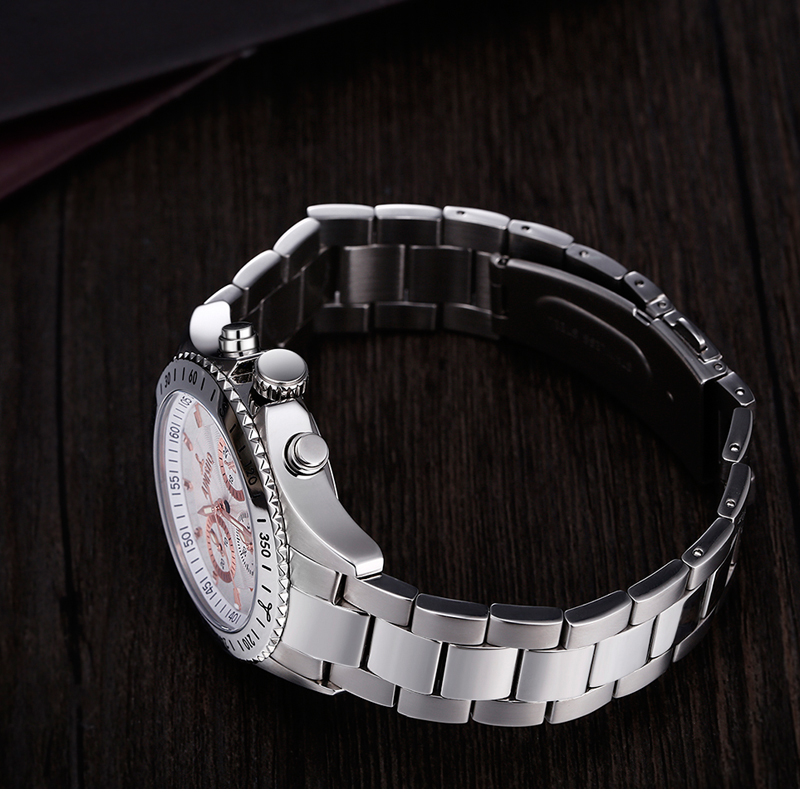 Business Mechanical Stainless steel wristwatch