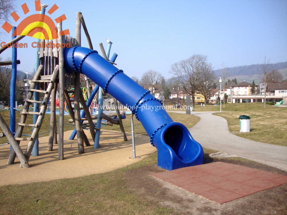 straight tube slide for children