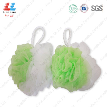 Two sides foaming mesh bath ball