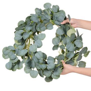 200CM Artificial Eucalyptus Fake Plant Green Vines Rattan Plants Ivy Wreath Wall Decor Vertical Garden Wedding Decoration