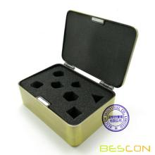 Bescon Deluxe Heavy Duty Brass Metal Dice Box for 7pcs Polyhedral RPG Dice Set