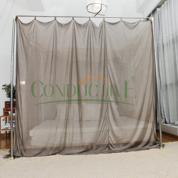 Square Shape EMF Protection Mosquito Net Bed Canopy