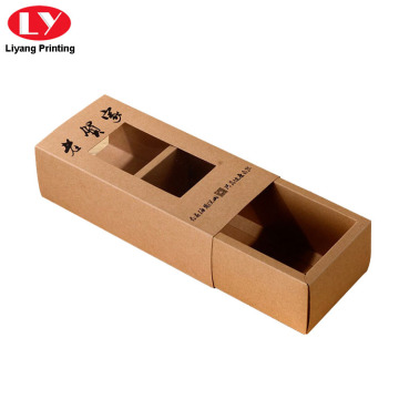 Small Kraft Brown Sliding Drawer Paper Boxes