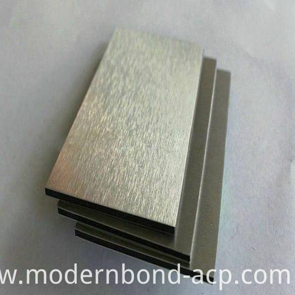 Brushed ACP for Construction Surface
