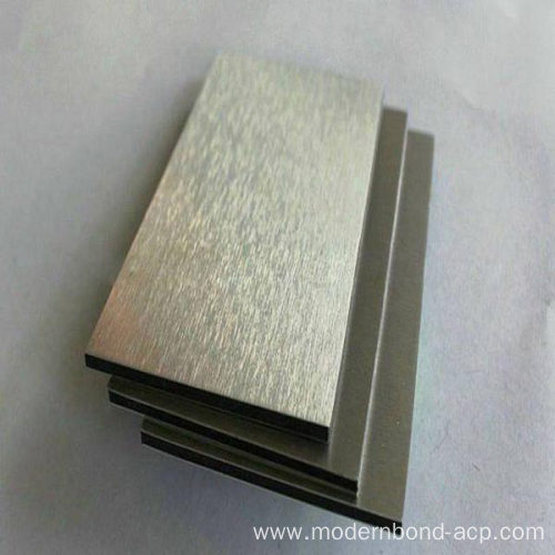 Brushed ACP for Construction Surface Materials