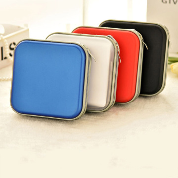 Portable 40pcs Disc CD DVD Wallet Storage Organizer Case Boxes Holder CD Sleeve Hard Bag Album Carry Pouch Bag with Zipper
